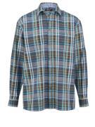 Overhemd Men Plus jeansblauw/petrol