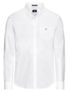 GANT, Heren Overhemd 'The Oxford Shirt BD', wit