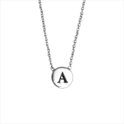 Alltheluckintheworld Collier CHARACTER NECKLACE LETTER SILV en argent