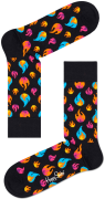 Happy Socks Chaussettes FLAMES SOCK en blanc
