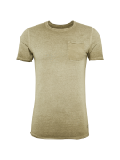 JACK & JONES, Heren Shirt 'JORJACK SS CREW NECK NOOS', olijfgroen