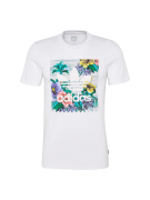 ADIDAS ORIGINALS, Heren Shirt 'BB FLRL TEE', gemengde kleuren / wit