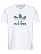 ADIDAS ORIGINALS, Heren Shirt 'TREFOIL', donkergroen / wit