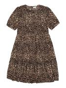NAME IT Robe 'NKFFIONY'  beige / noir / marron